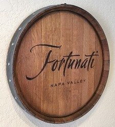 Barrel Head Cellar Sign-metal hoop edge